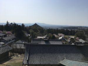 奈良公園 二月堂から街を眺める