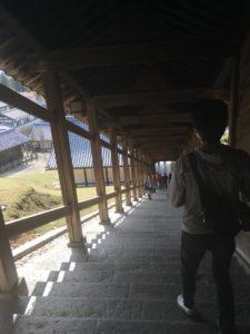奈良公園 二月堂の階段