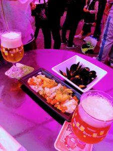 ベルギービールウィークエンドのグルメ