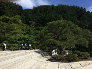 銀閣寺の庭 銀沙灘
