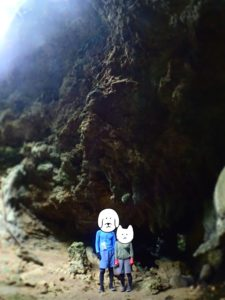 西表島 洞窟から出たところ