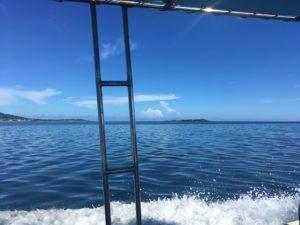 西表島で体験ダイビング 船上からの眺め