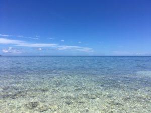 バラス島の美しい海