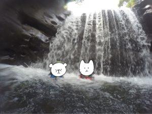 西表島 キャニオニング 滝にぼこぼこ打たれる
