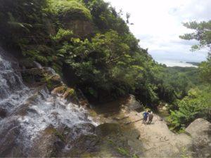 西表島・リバートレッキング 大迫力の滝