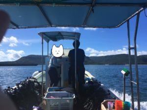 西表島 体験ダイビング 船上