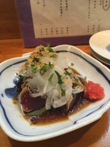 島魚料理・寿し 初枝 カツオのたたき