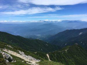 木曽駒ヶ岳 山頂からの眺め