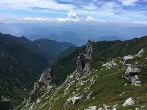 木曽駒ケ岳 中岳 大きな岩