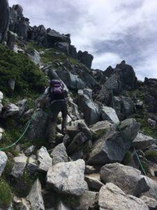 木曽駒ケ岳 中岳 難所