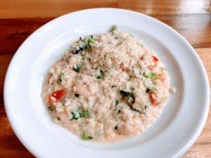 小海老と野菜のチーズリゾット
