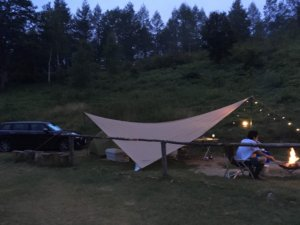 宮田高原キャンプ場 設営しました
