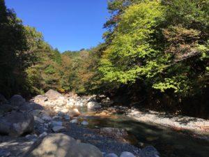 大瀞への道 広い河原