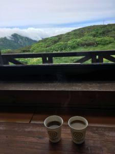 出発前のコーヒーとココア