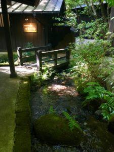 山河 露天風呂 入り口
