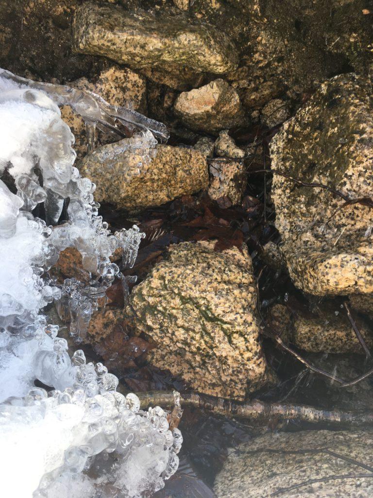 湧き水の氷 3