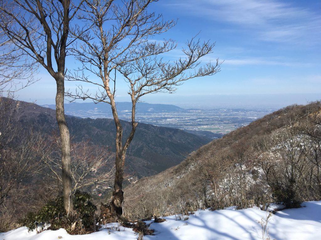 稜線からの見晴らし
